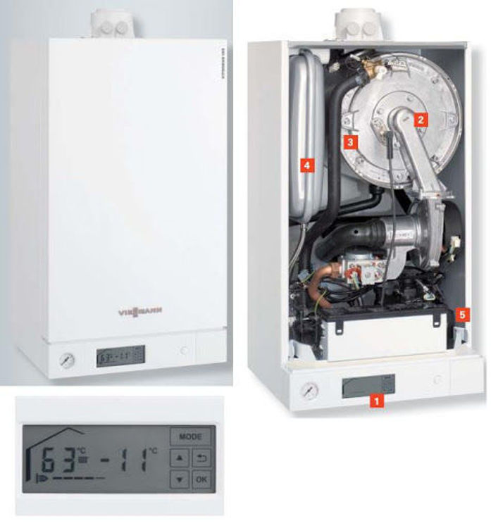 Slika Plinski kondenzacijski kombi bojler 26 kW VIESSMANN Vitodens 100-W paket