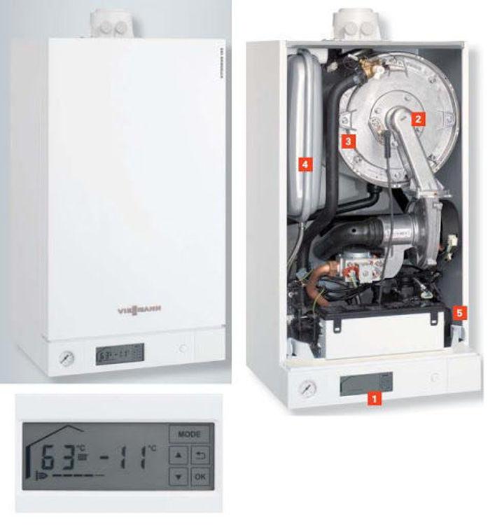 Slika Plinski kondenzacijski kombi bojler 35 kW VIESSMANN Vitodens 100-W paket
